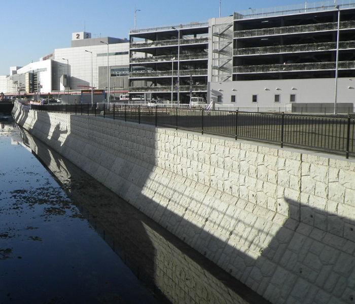 吉塚新川河川改修工事